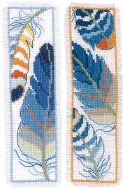 Bladwijzer Blauwe pluimpjes set van 2