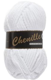 Chenille 6 -Lammy Yarns 005 Wit