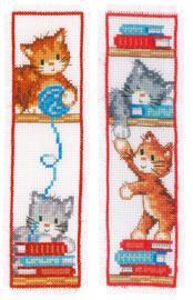 Bladwijzer Speelse kittens set van 2