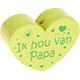 Houten kraal ''ik hou van papa'' lime ''babyproof''