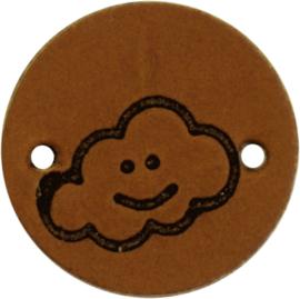 Durable Leren labels rond 2cm - Cloud per 2 stuks
