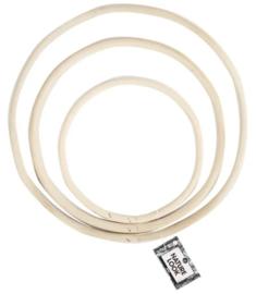 Bamboe ringen - 15,5-20,3-25,5 cm set van 3
