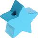 Houten kraal Mini-ster zeegroen effen ''babyproof''