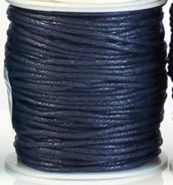 Wax koord 2 mm Donkerblauw