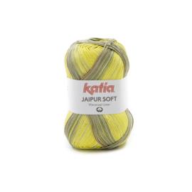 Katia Jaipur Soft 110 - Kaki-Citroengeel-Bleekrood-Oranje