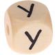 Houten Letterkraal gegraveerd 10mm   - Y -