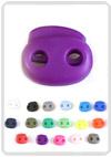 Koordstopper tweegaats ±22 x 20mm allerlei kleuren!
