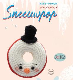 Garen en fourniturenpakket Kerstdonut Sneeuwpop