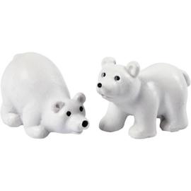 Miniatuur figuurtjes ijsbeer (2stuks)