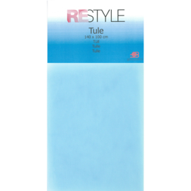 Tule Babyblauw 140x100cm Restyle