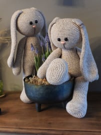 XXL Funny Bunny Basic Faded Beige (staand of zittend)