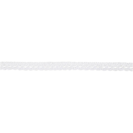 Gehaakt Kanten lint 10mm 10 meter lengte Wit