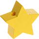 Houten kraal Mini-ster geel effen ''babyproof''