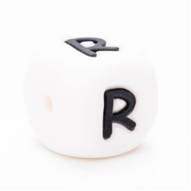 Siliconen letterkraal  - R