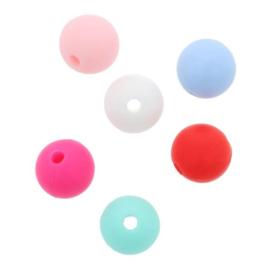 Opry Siliconen kralen 5 kralen van 10mm AST 5 - 5 kleuren
