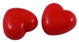 10 Rode hartjes kralen van 9mm