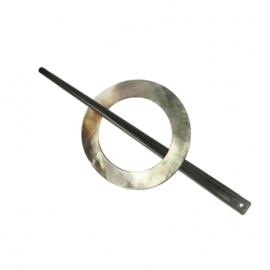Vestsluiting parelmoer 60mm