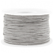 Wax koord 1 mm Light Grey