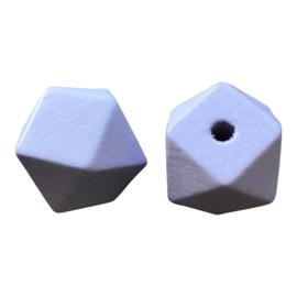 Houten Hexagon Facet kraal 20 mm Lilaroze