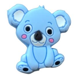 Siliconen kraal Koala zittend - Lichtblauw