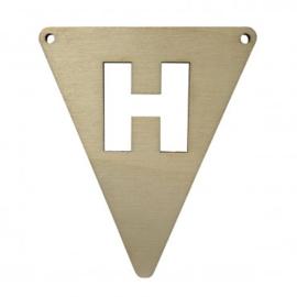 Houten vlagletter H