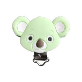 Siliconen speenclip Koala - Mint