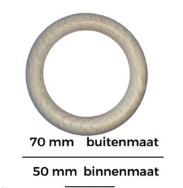 Houten beuken ring  70mm x 10mm