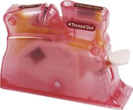 Draaddoorhaler clover Desk Needle Threader  Pink