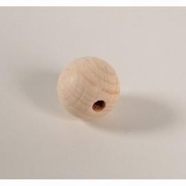 Blanke houten kraal 20 mm