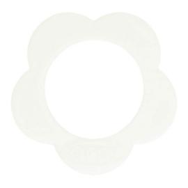 Opry siliconen Bloem bijtring  Wit - 009