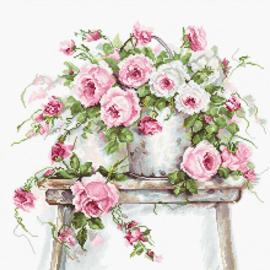 Borduurpakket Roses on a stool - Luca-S