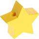 Houten kraal Mini-ster pastelgeel effen ''babyproof''