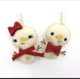 Hardicraft Vilthangers Sneeuwpopjes