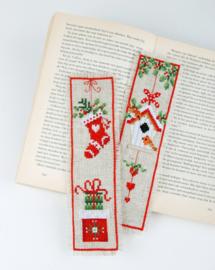 Bladwijzer Kerstmotiefjes set van 2