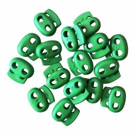 Koordstopper Groen 18mm 2 gaatjes