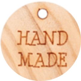 Houten label met Handmade