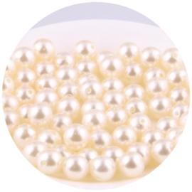 30 Parelkralen acryl Ivoor - 6 mm