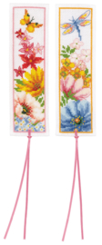 Bladwijzer Kleurige bloemen set van 2