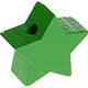 Houten kraal Ster groen effen ''babyproof''