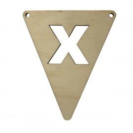Houten vlagletter X