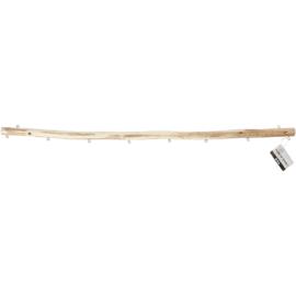 Houten display stok 60cm met 2 ophang ogen + 8 extra
