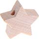 Houten kraal Mini-ster onbewerkt effen ''babyproof''