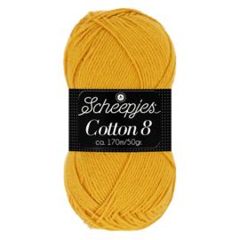 Cotton 8 Scheepjes 722 Goudgeel