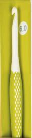 Prym  Wolhaaknaald ergonomisch 6 mm / 17 cm lang - Lime