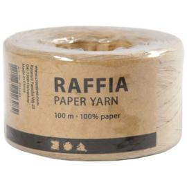 Papier Raffia garen - Zandkleur - 7-8mm