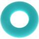Siliconen ring zeegroen