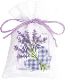 Geurzakje Lavendeltakjes met strikje aida