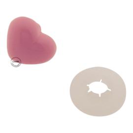 Hartjes veiligheidsneus 18 mm roze