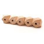 Durable houten hexagon kralen - 14mm- 5 stuks
