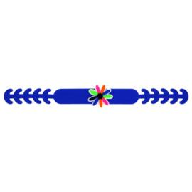 Siliconen oorbeschermers mondkapje Blauw bloem